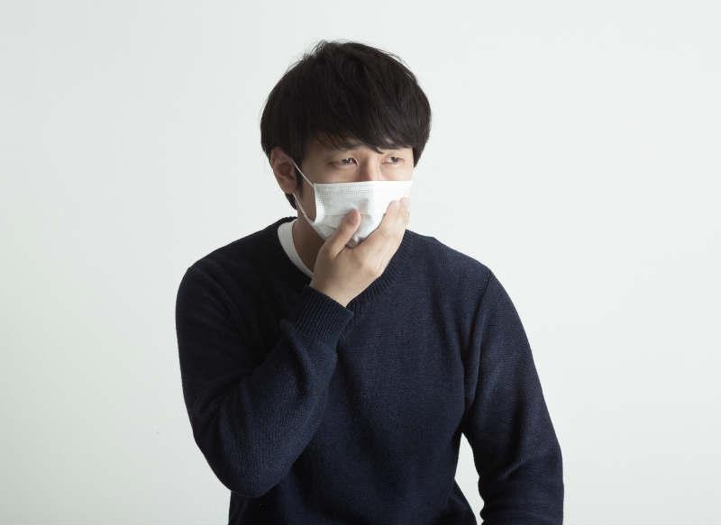 マスクをした患者