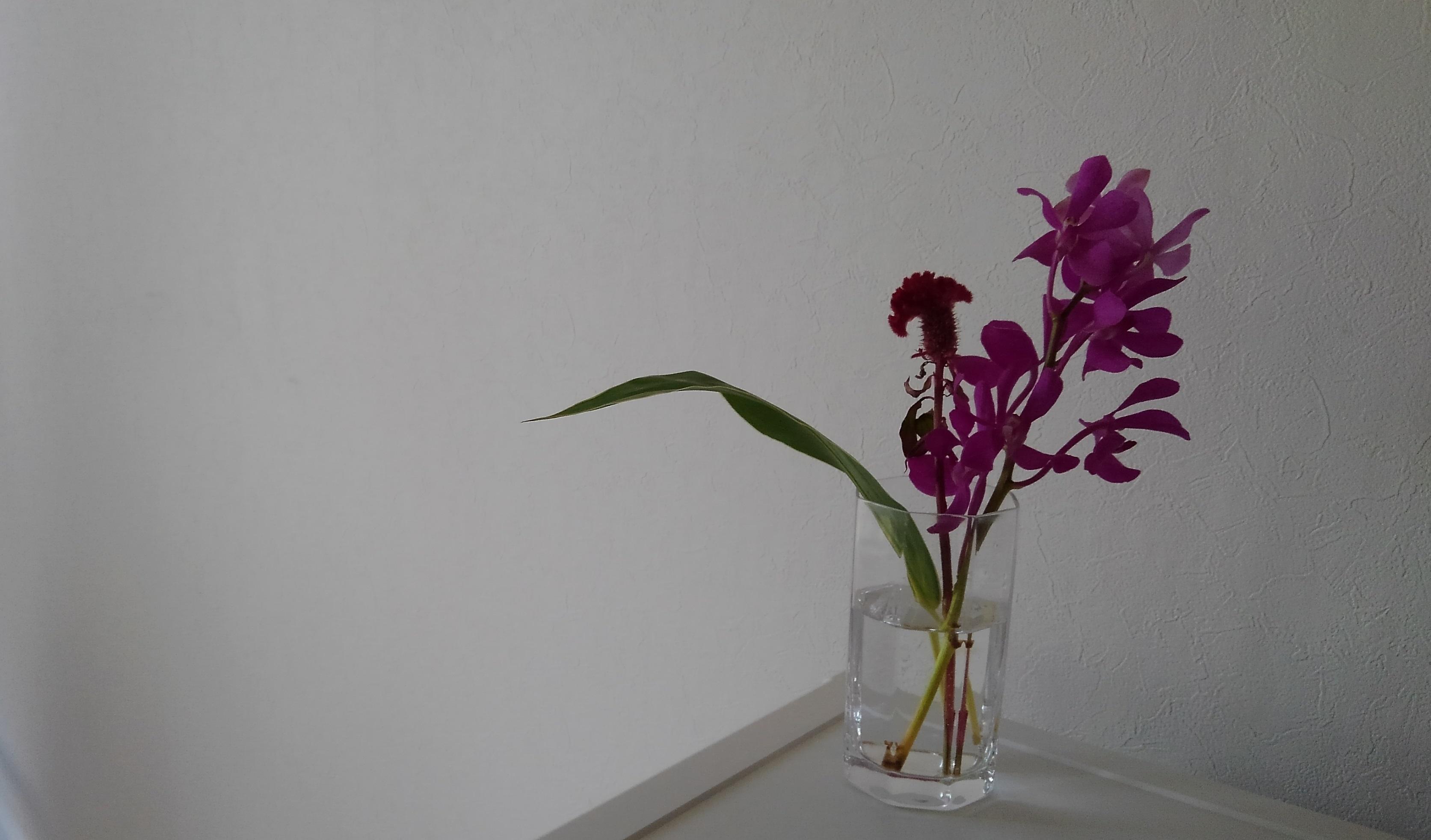 お花の飾り方を工夫したところ
